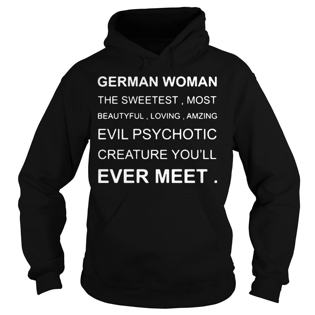 German Woman the sweetest most beautiful loving amzing Hoodie