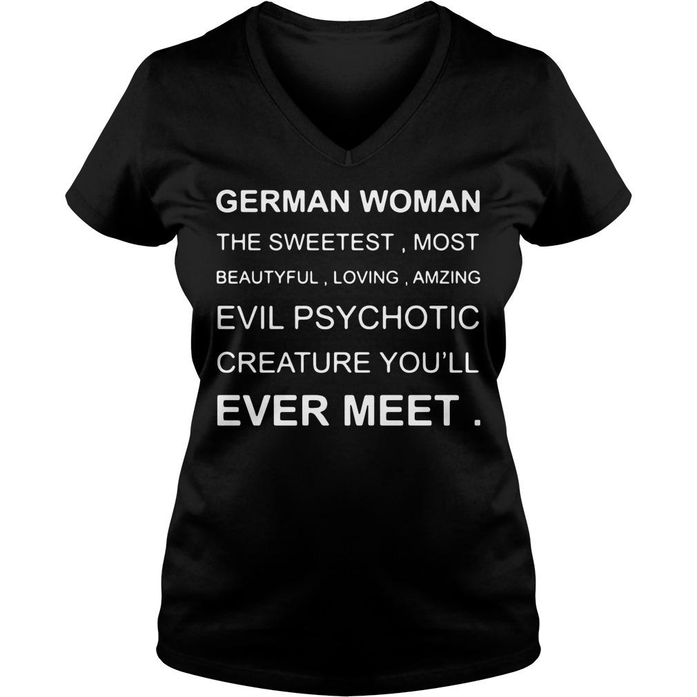 German Woman the sweetest most beautiful loving amzing V-neck t-shirt