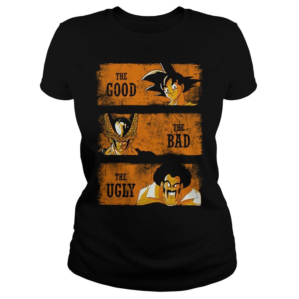 Goku the good - Sorbet the bad - Mr Satan the ugly Ladies tee