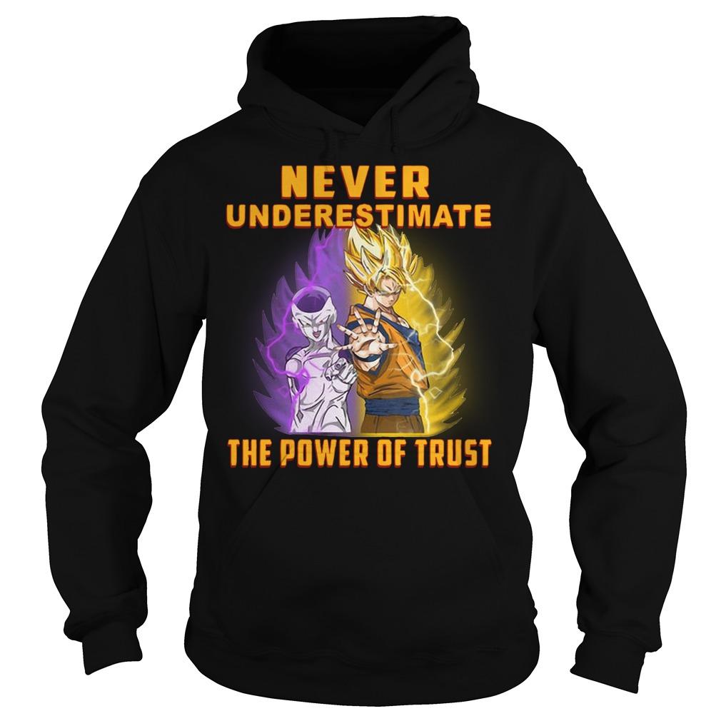 Goku never underestimate the power of trust Hoodie