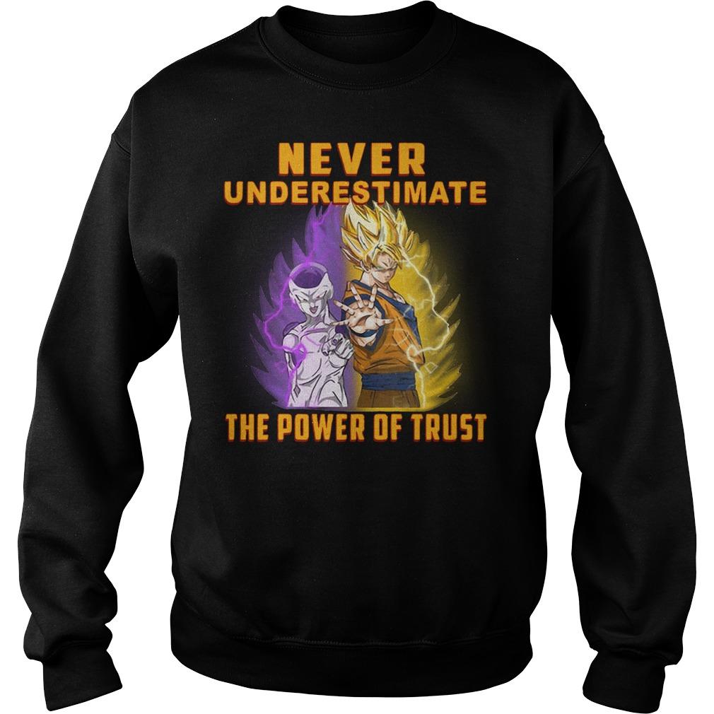Goku never underestimate the power of trust Sweater