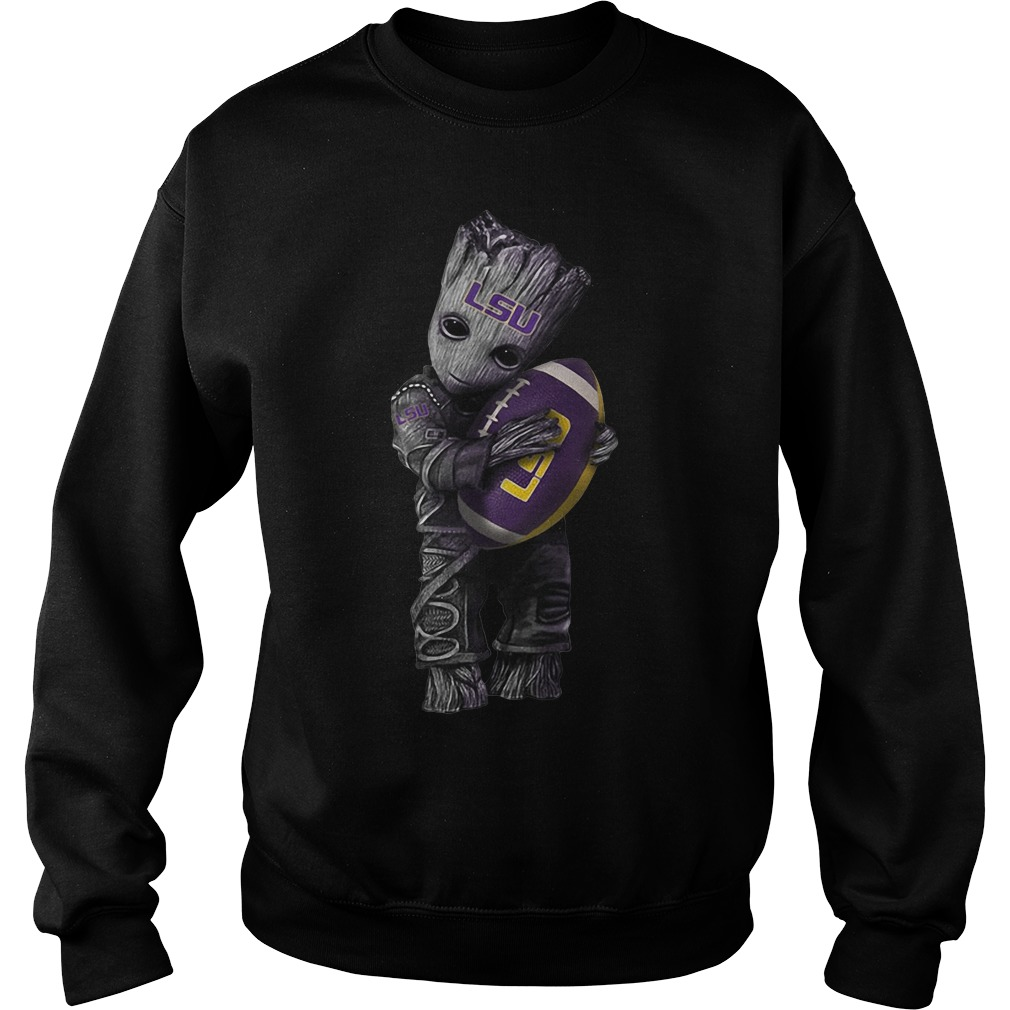 Groot hug LSU Tigers Sweater