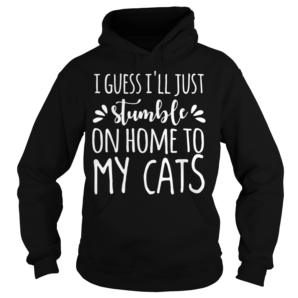I guess I'll just stumble on home to my cats Hoodie