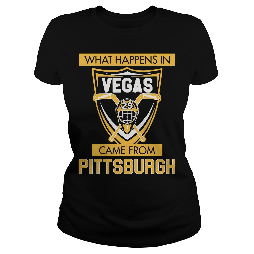 What Happens in Vegas Came From Pittsburgh Ladies tee