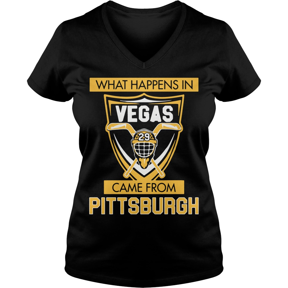 What Happens in Vegas Came From Pittsburgh V-neck t-shirt