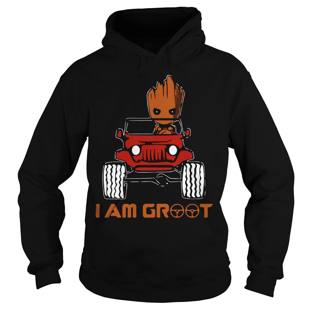 Jeep car I am Groot Hoodie