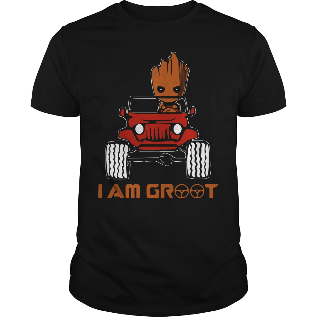 Jeep car I am Groot shirt