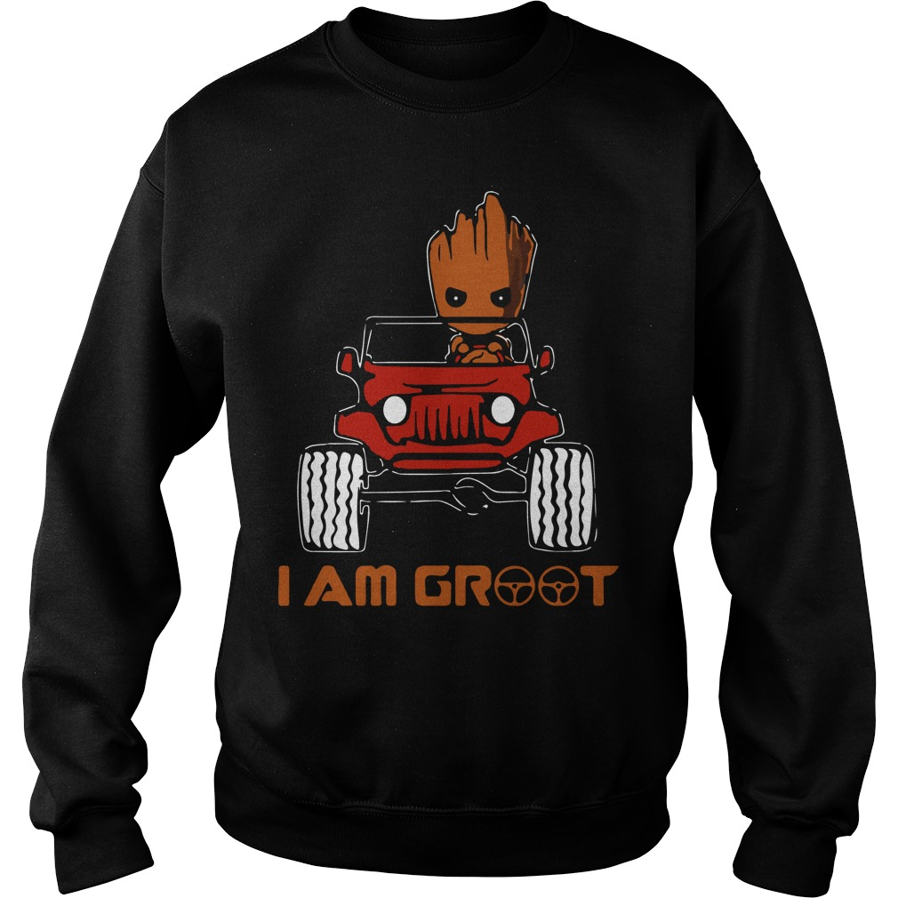 Jeep car I am Groot Sweater
