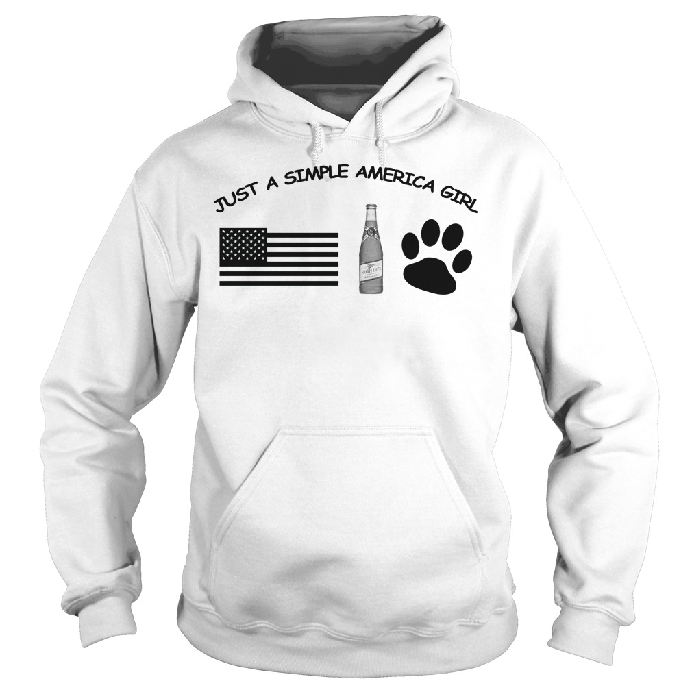 Just a simple American girl - America Miller High Life and Dog Leg Hoodie