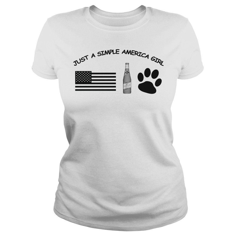 Just a simple American girl - America Miller High Life and Dog Leg shirt