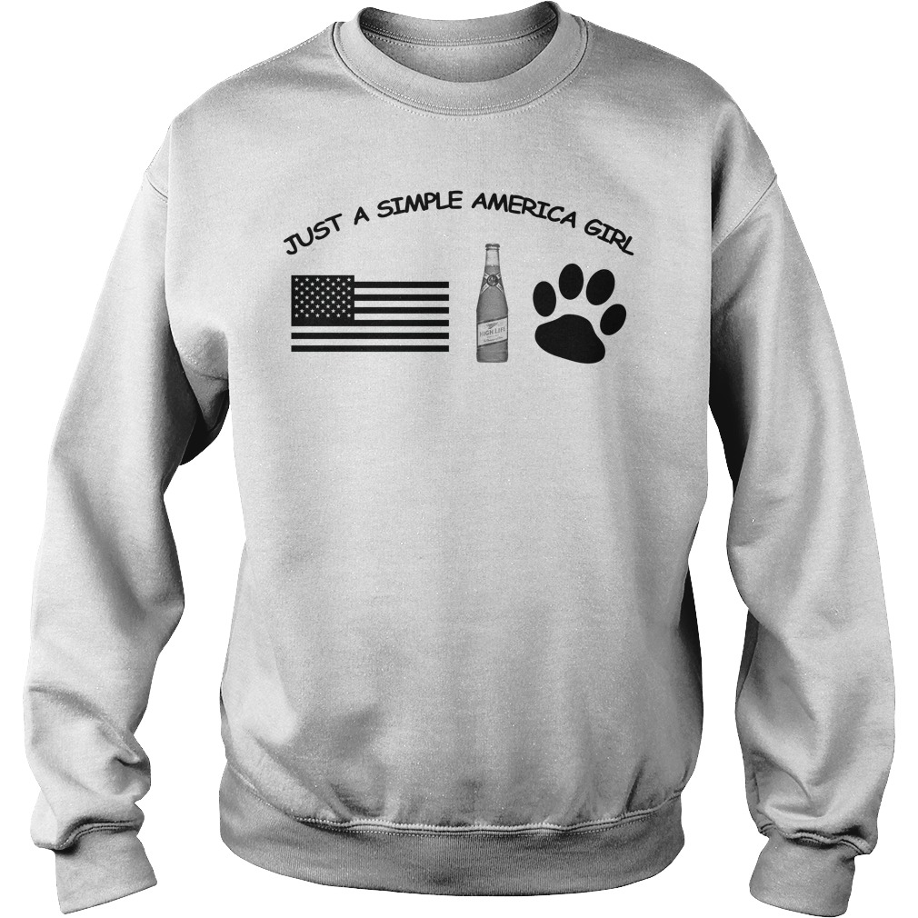 Just a simple American girl - America Miller High Life and Dog Leg Sweater