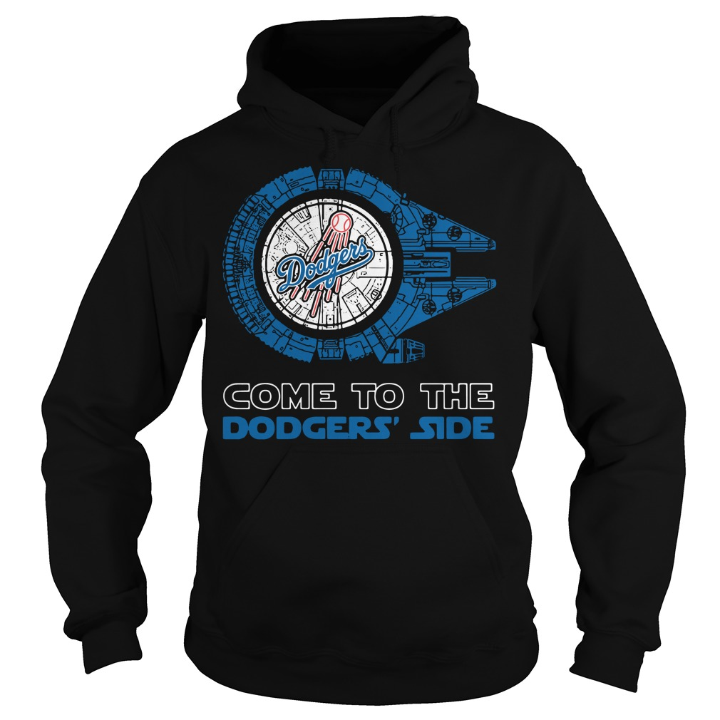 Los Angeles Dodgers Millennium Falcon come to the Dodgers' side Hoodie