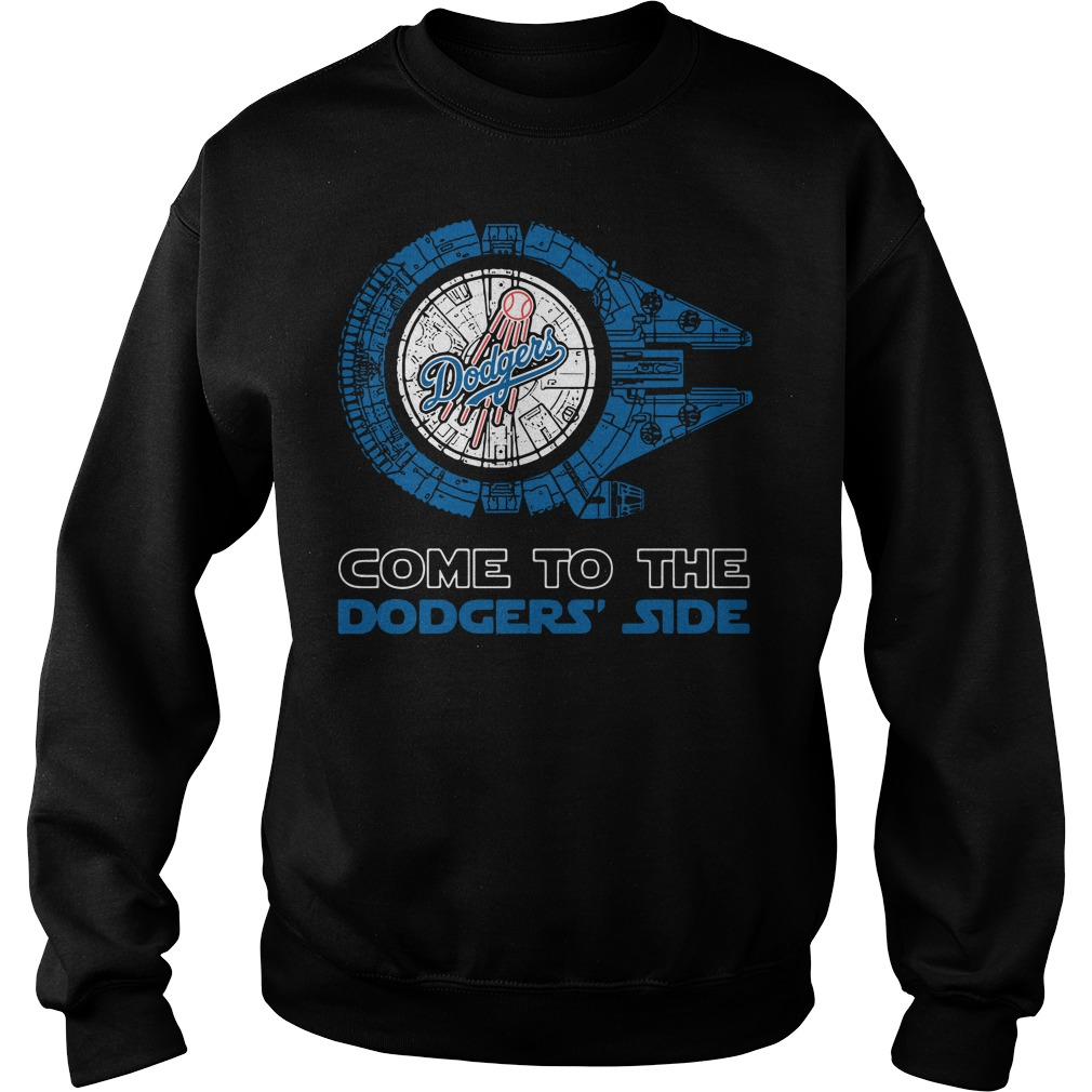 Los Angeles Dodgers Millennium Falcon come to the Dodgers' side Sweater