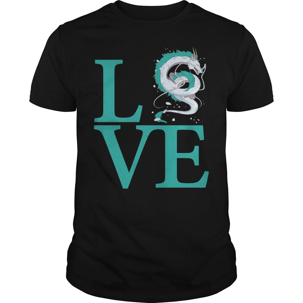 Love Haku Spirited Away Dragon shirt