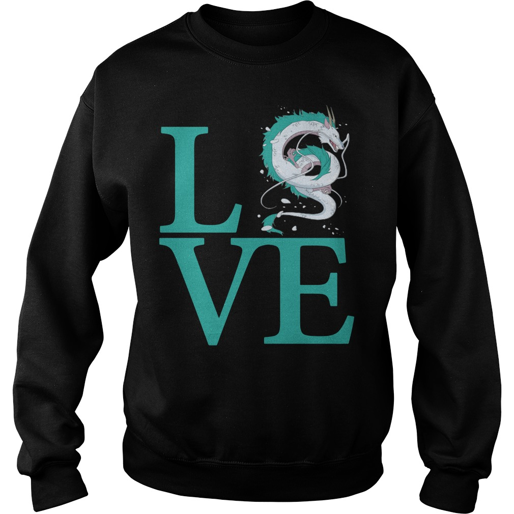Love Haku Spirited Away Dragon Sweater