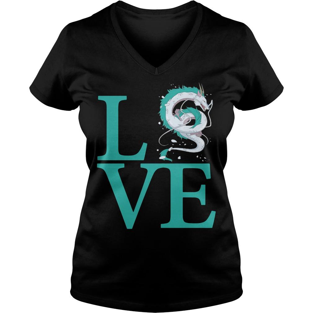 Love Haku Spirited Away Dragon V-neck t-shirt