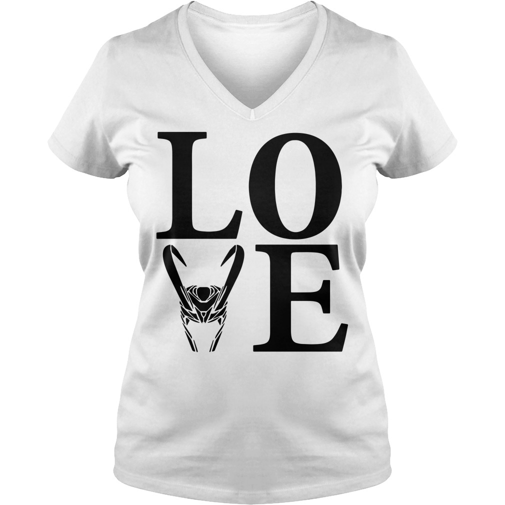 Love Loki Silhouette V-neck t-shirt
