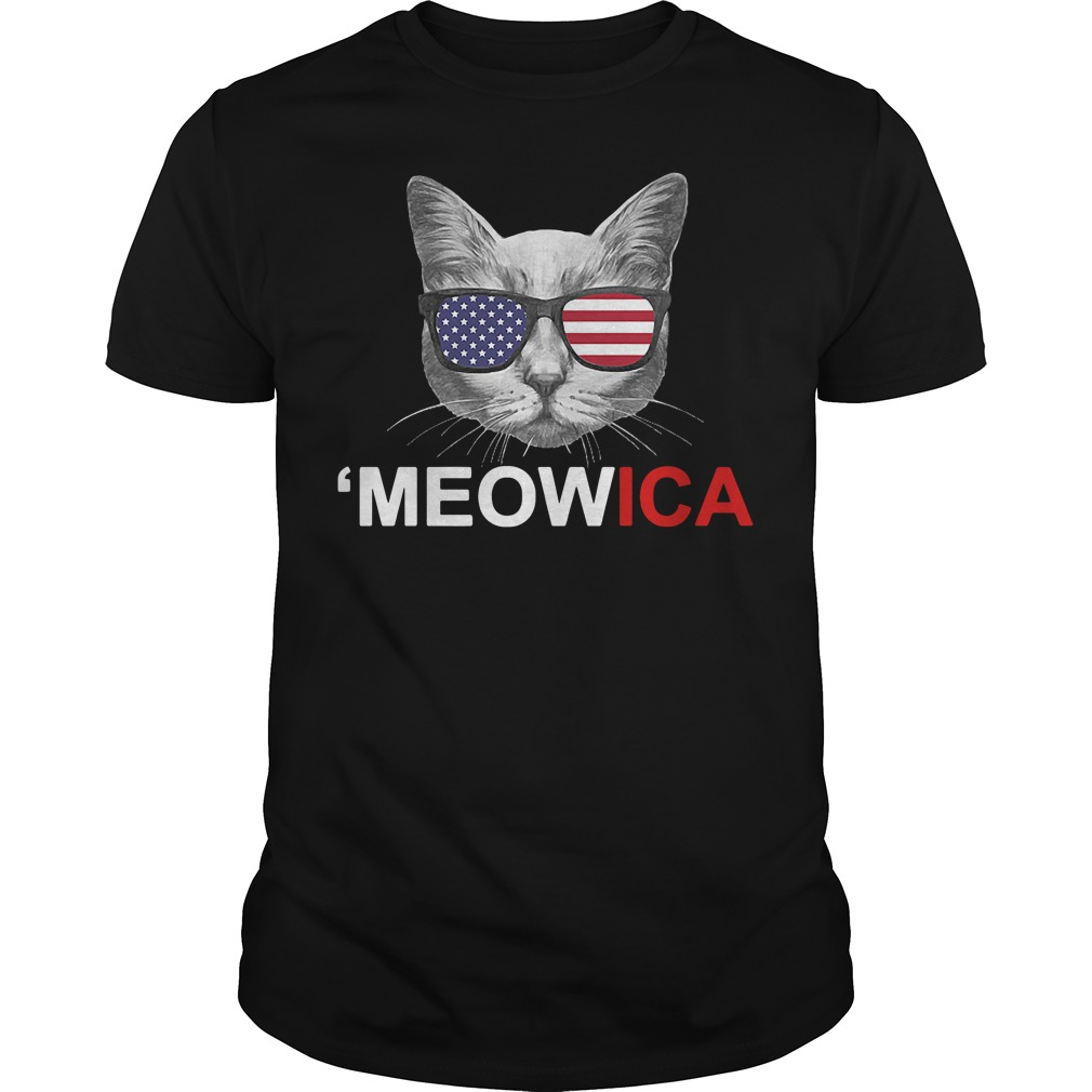 Meowica 4th of July American Flag Independence Day shirt