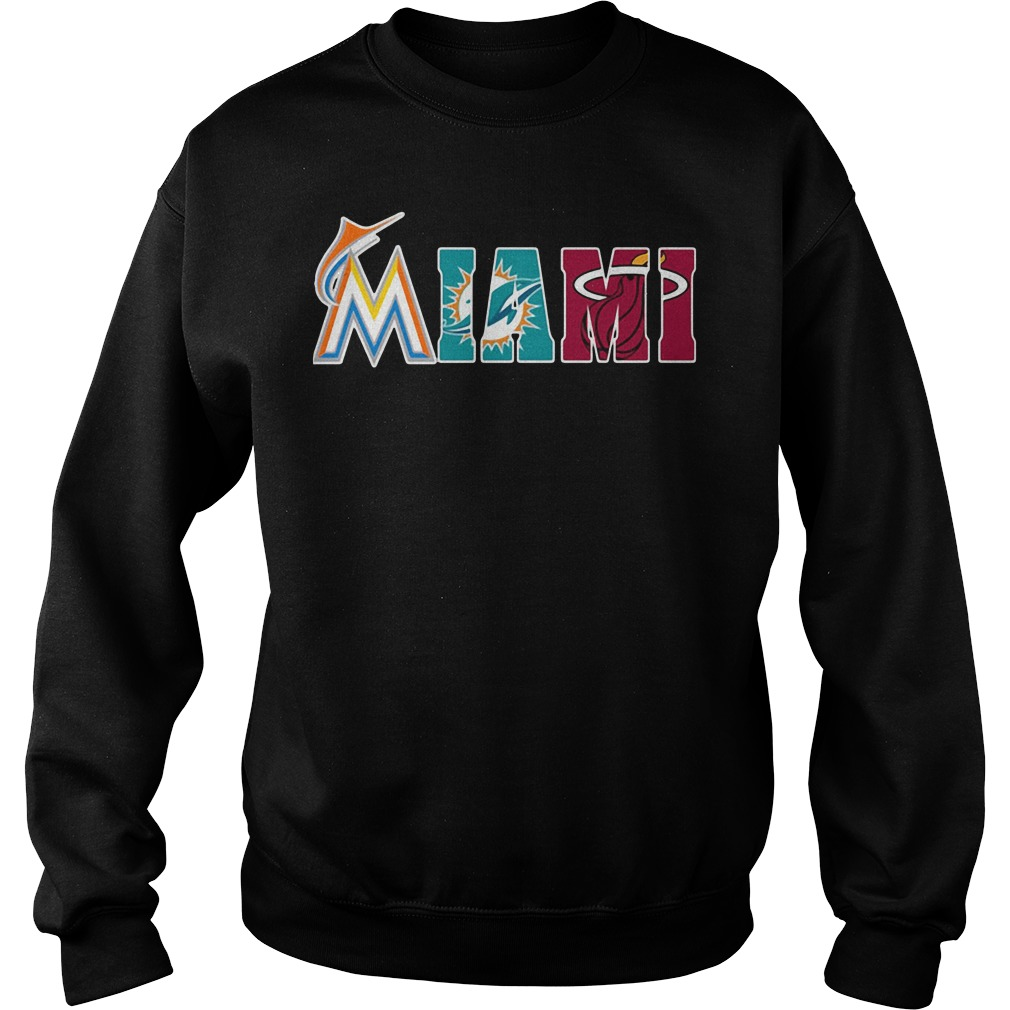 Miami Fans: Miami Marlins Miami Dolphins Miami Heat Sweater