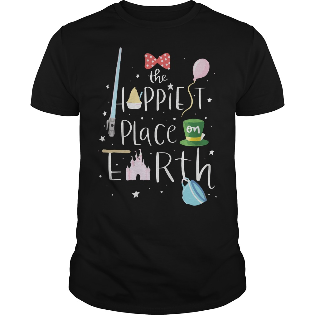 Mickey the happiest place on earth Guys shirt