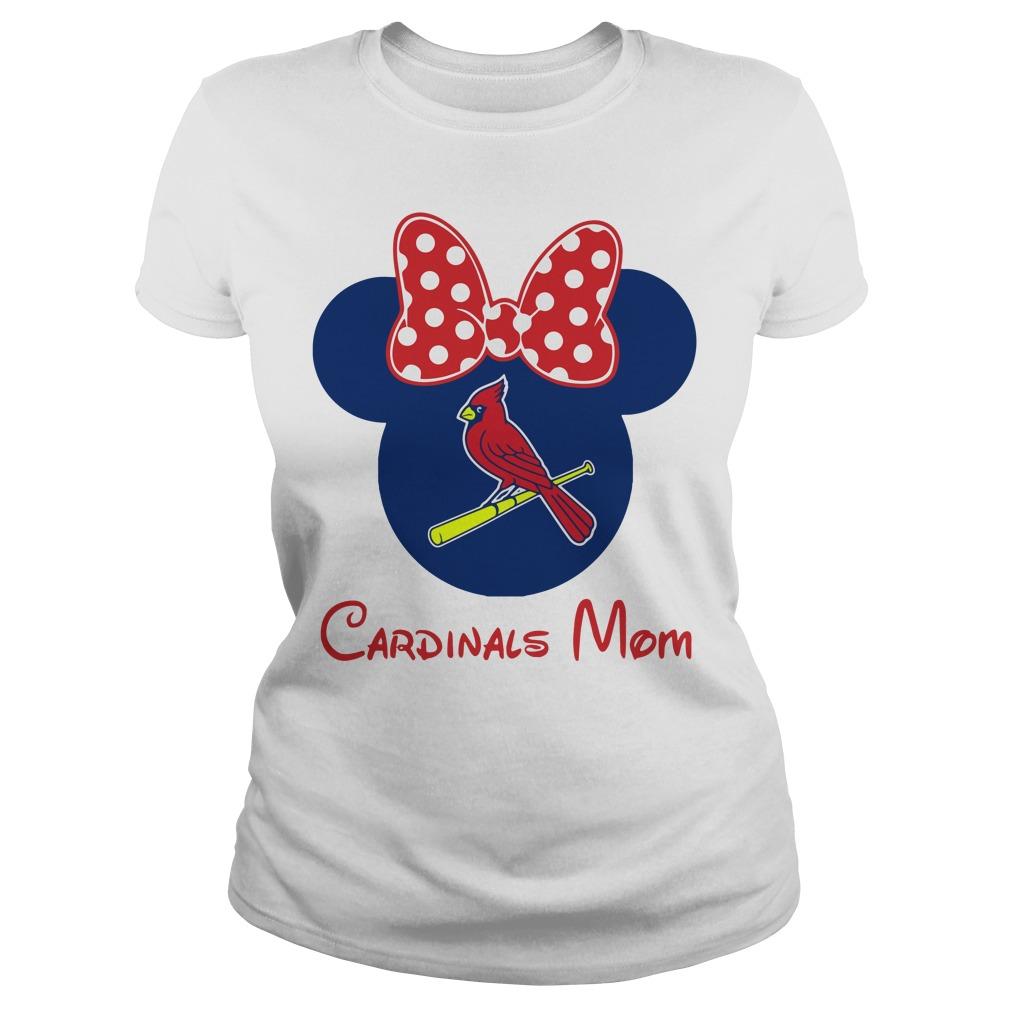 Minnie St. Louis Cardinals Mom shirt
