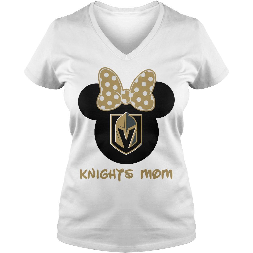 Minnie Vegas Golden Knights Mom V-neck t-shirt