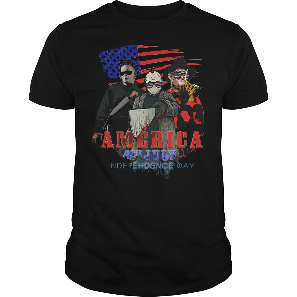 Movie Scary America 4th July Independence Day shirt