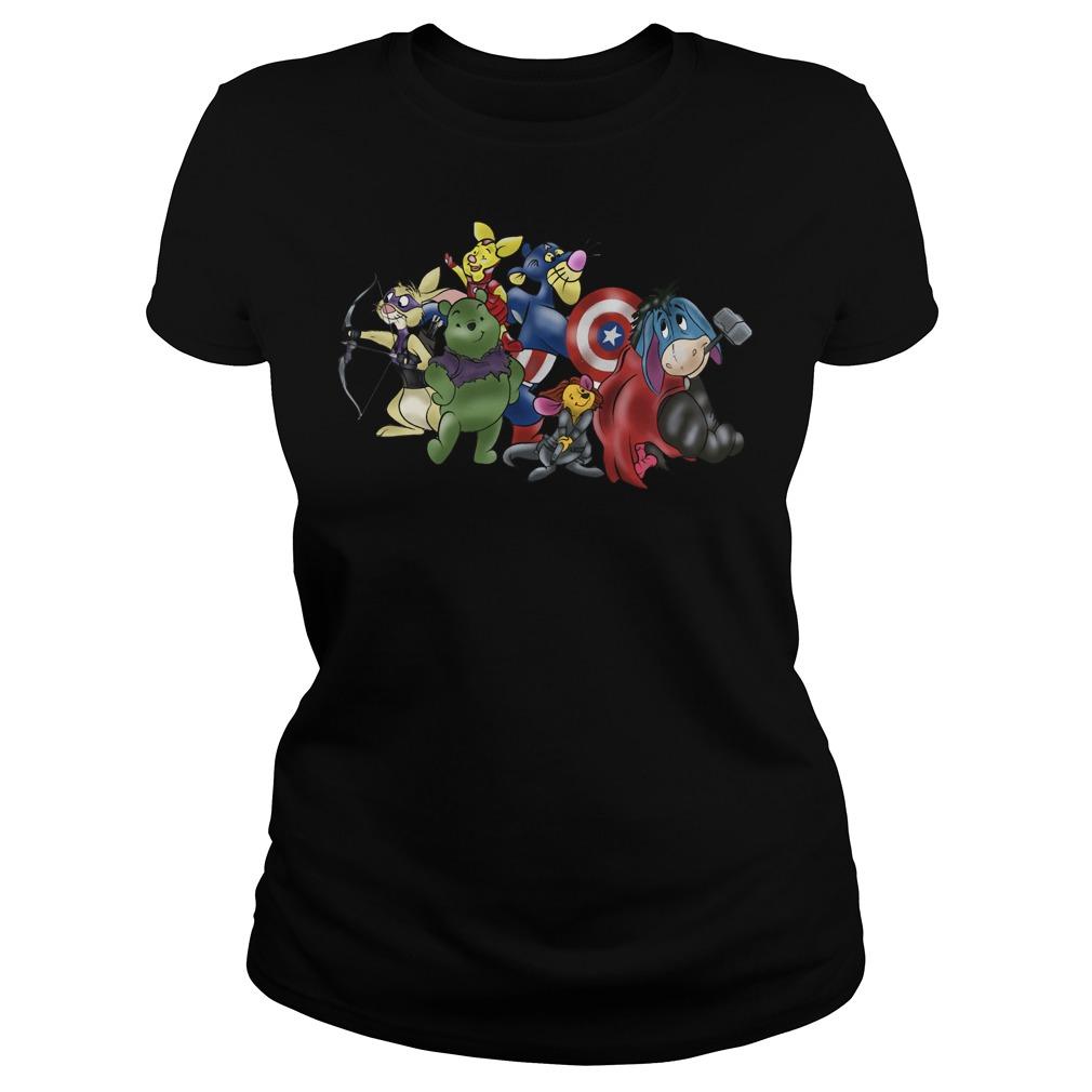 New Avengers - Winnie the Pooh friends crewneck Ladies tee