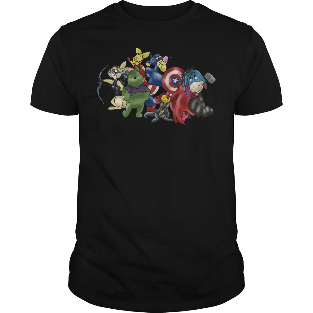 New Avengers - Winnie the Pooh friends crewneck shirt