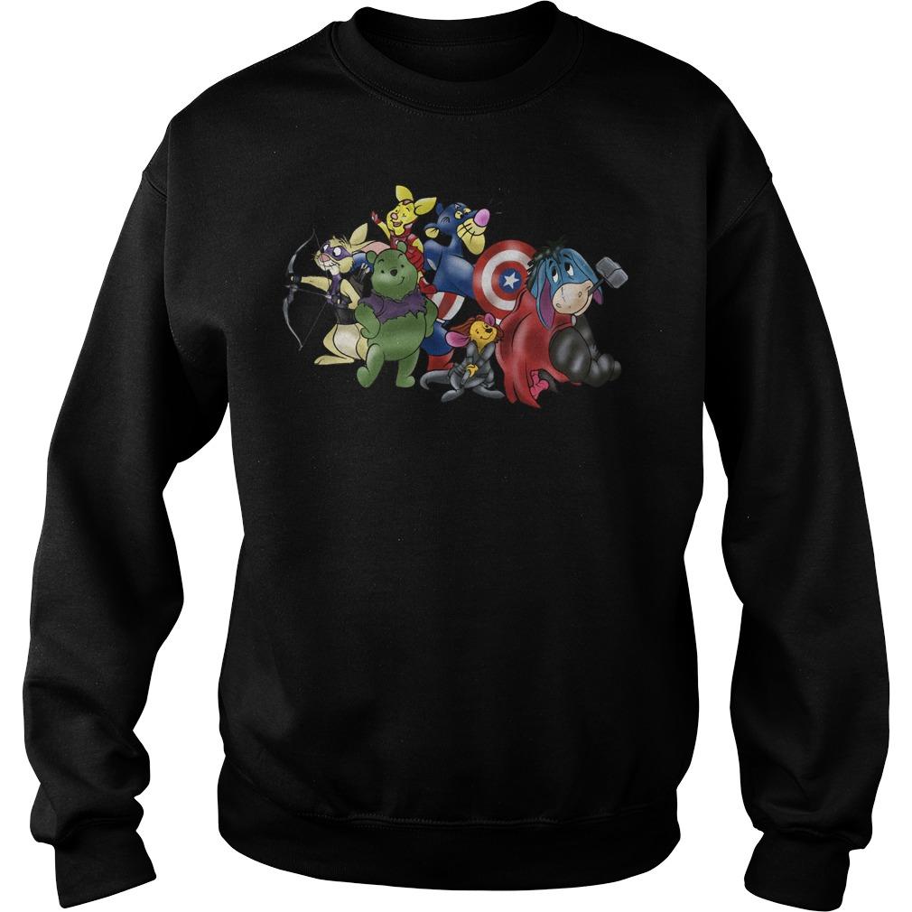 New Avengers - Winnie the Pooh friends crewneck Sweater