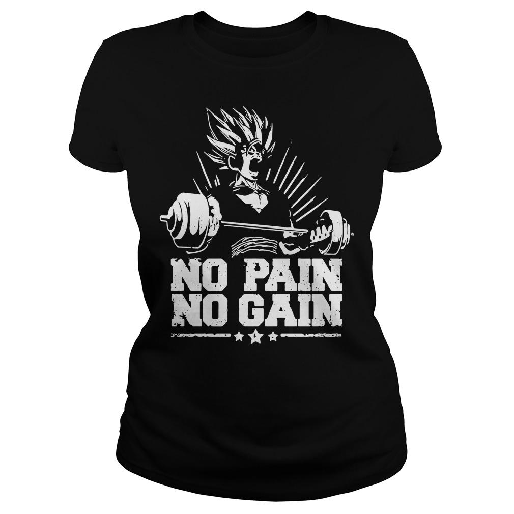 No pain no gain Dragon Ball Z Ladies tee