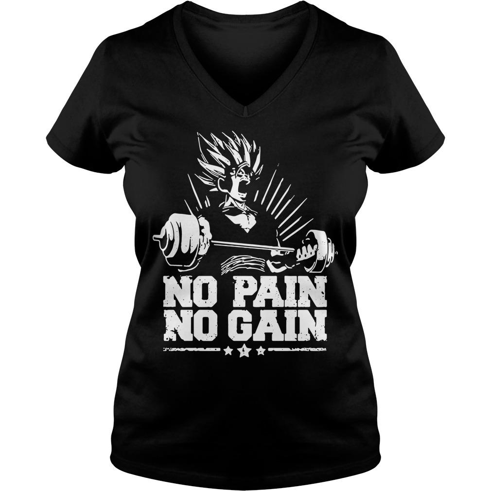 No pain no gain Dragon Ball Z V-neck t-shirt