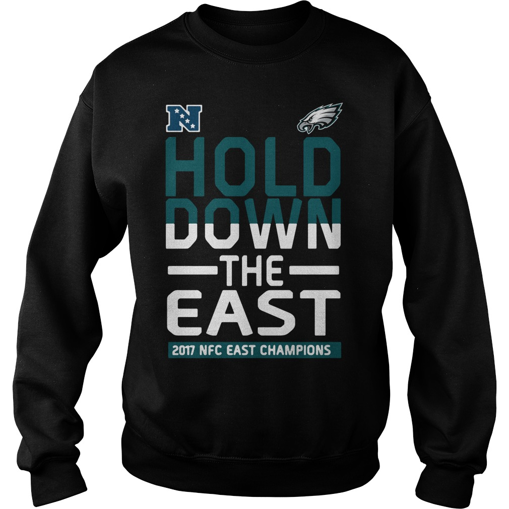Ladies tee Philadelphia Eagles Hold down the East 2017 NFC Champions Sweater f2099f40a