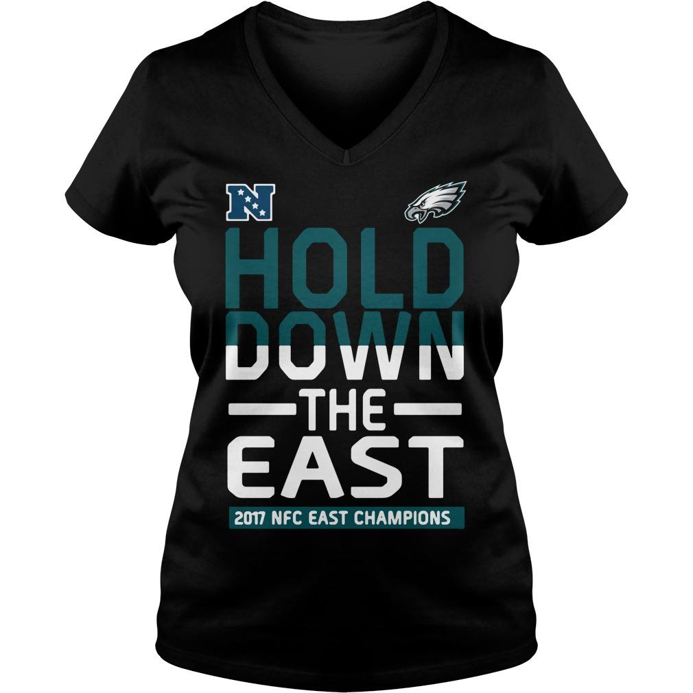 Philadelphia Eagles Hold down the East 2017 NFC Champions V-neck t-shirt
