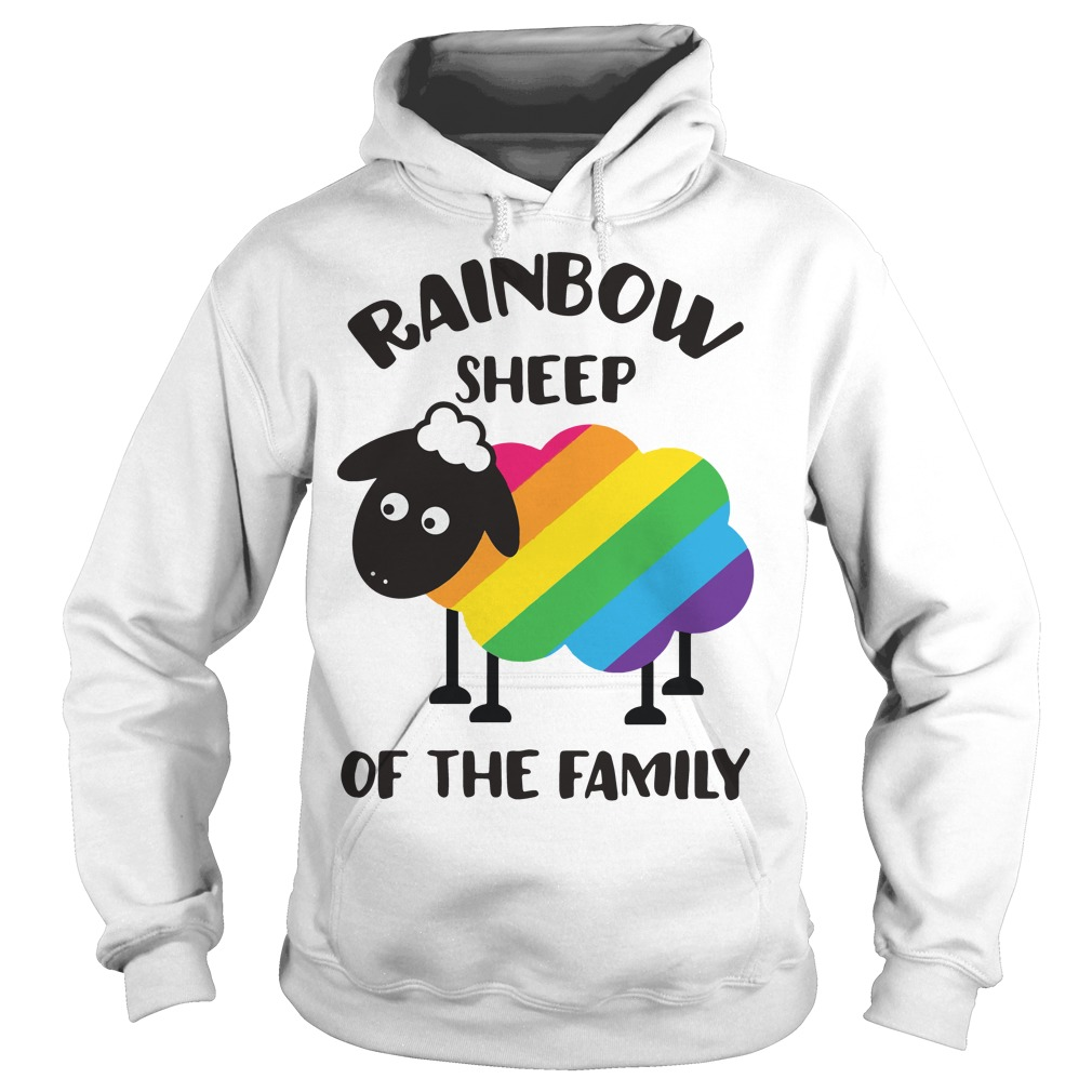 LGBT Rainbow sheep of the family Hoodie