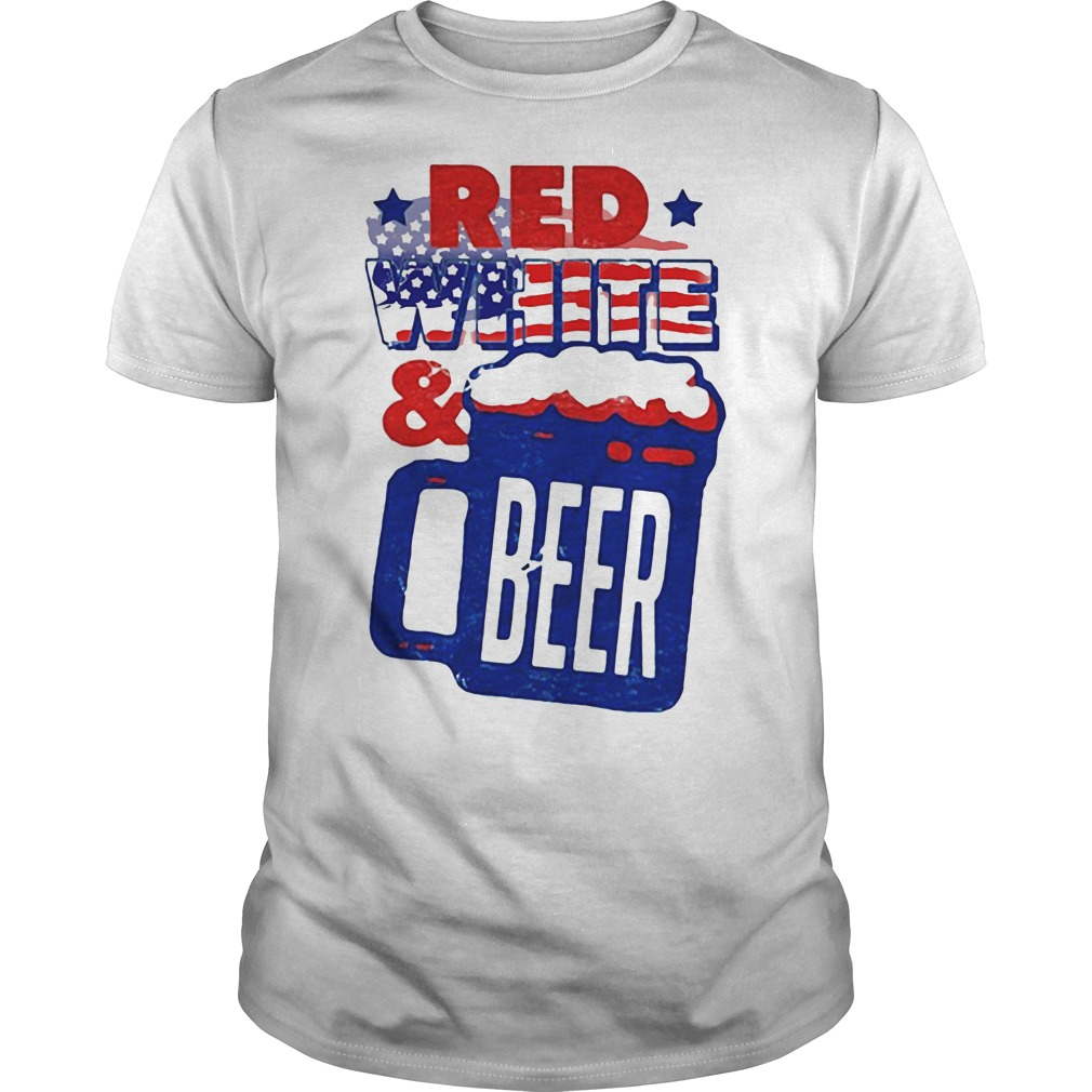 American Flag Red White and Beer shirt