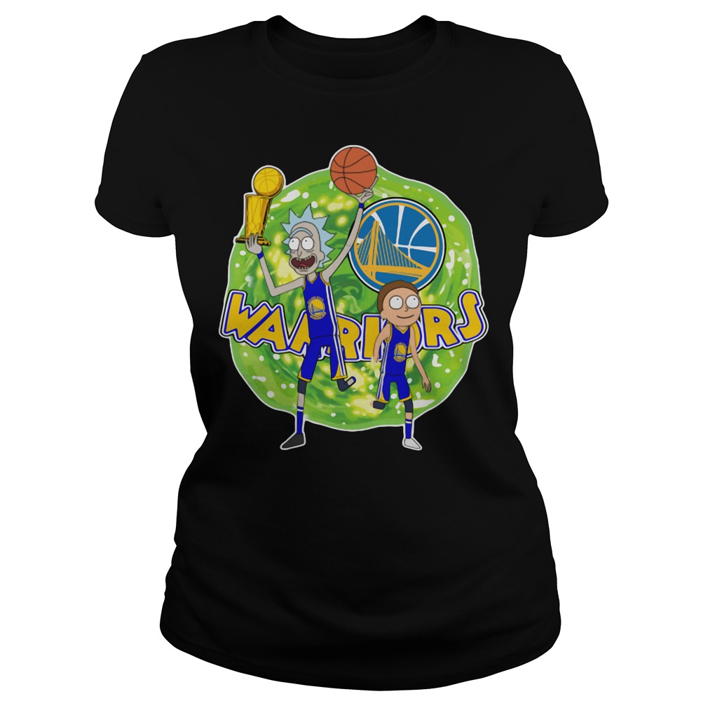Rick and Morty Warrior - Golden State Warriors Ladies tee