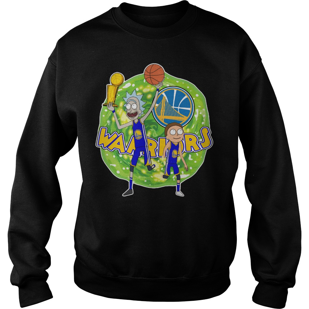 Rick and Morty Warrior - Golden State Warriors Sweater
