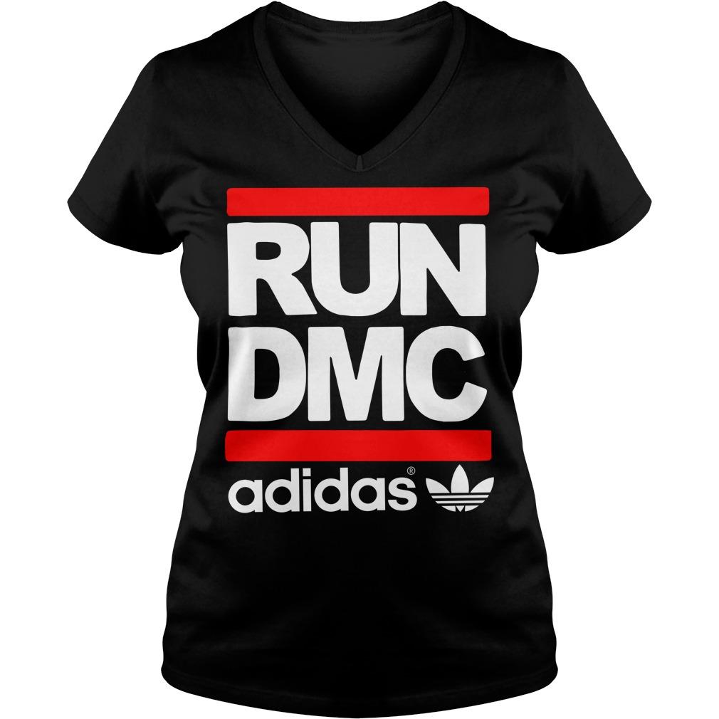 Run DMC adidas V-neck t-shirt
