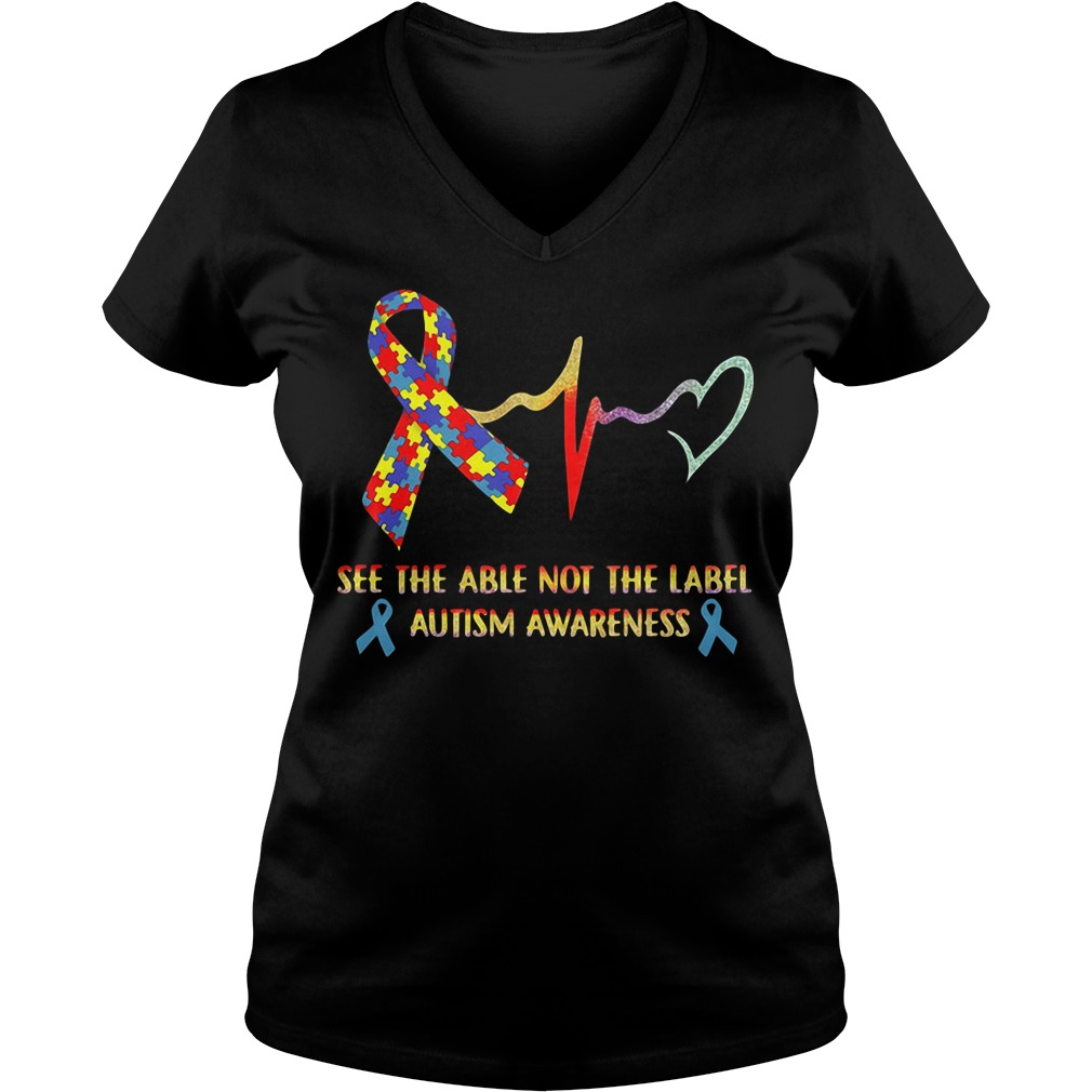 See the able not the label Autism Awareness V-neck t-shirt