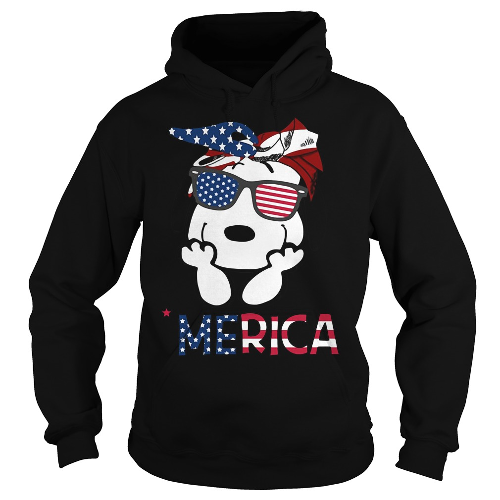 Snoopy Merica 4th of July American Flag Independence Day Hoodie
