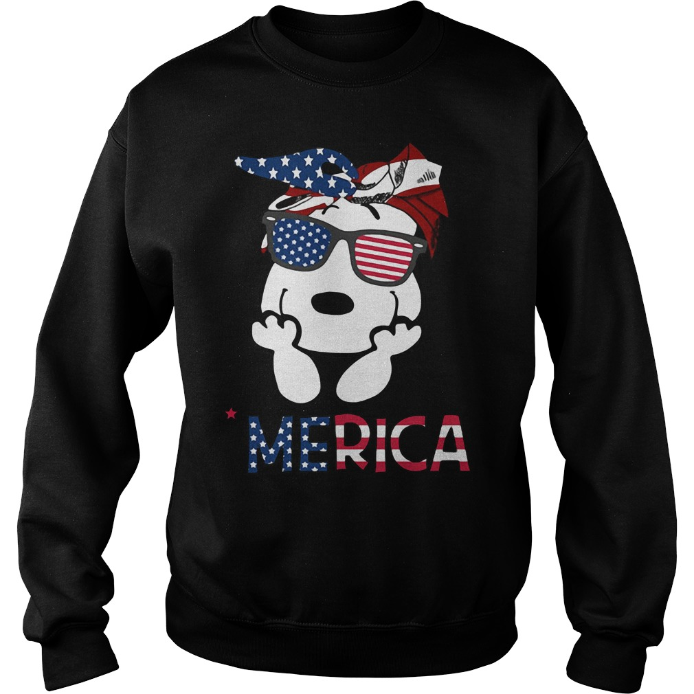 Snoopy Merica 4th of July American Flag Independence Day Sweater