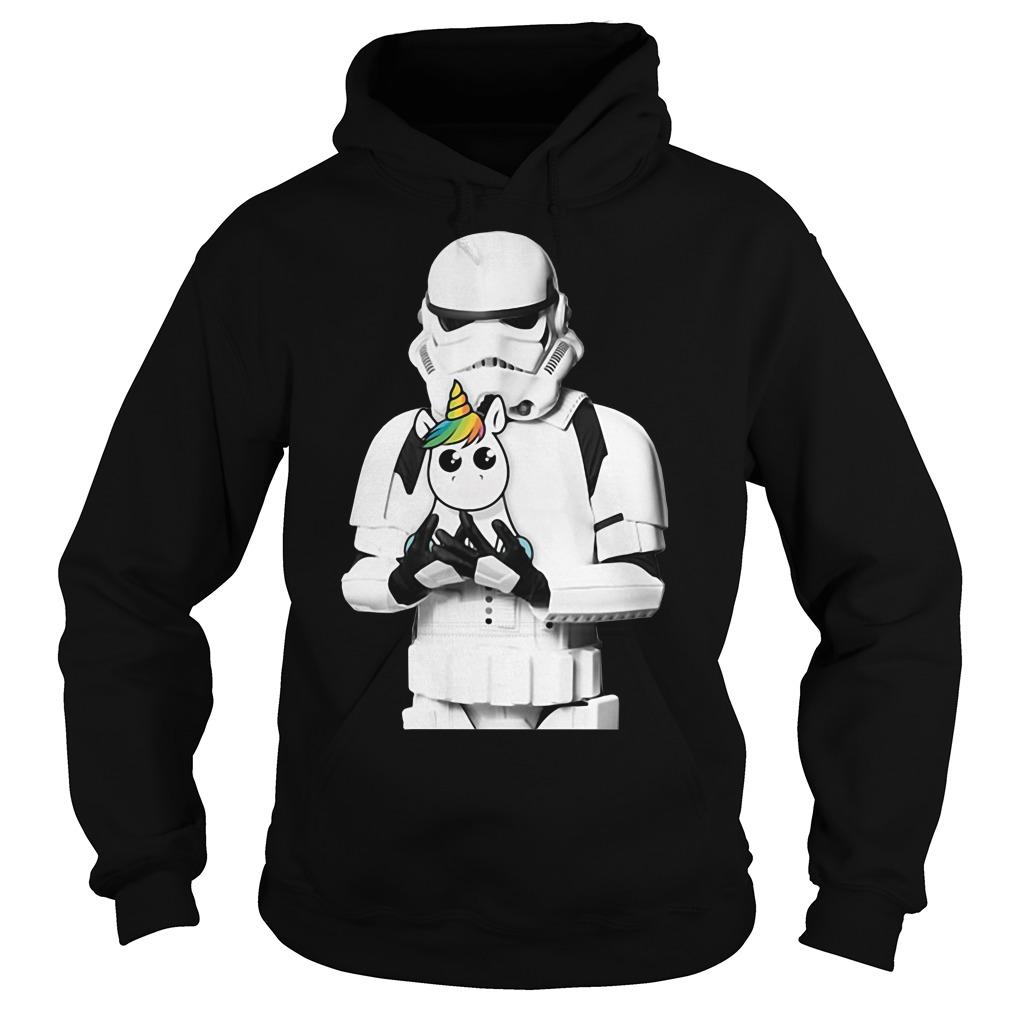 Stormtrooper hug Unicorn Hoodie
