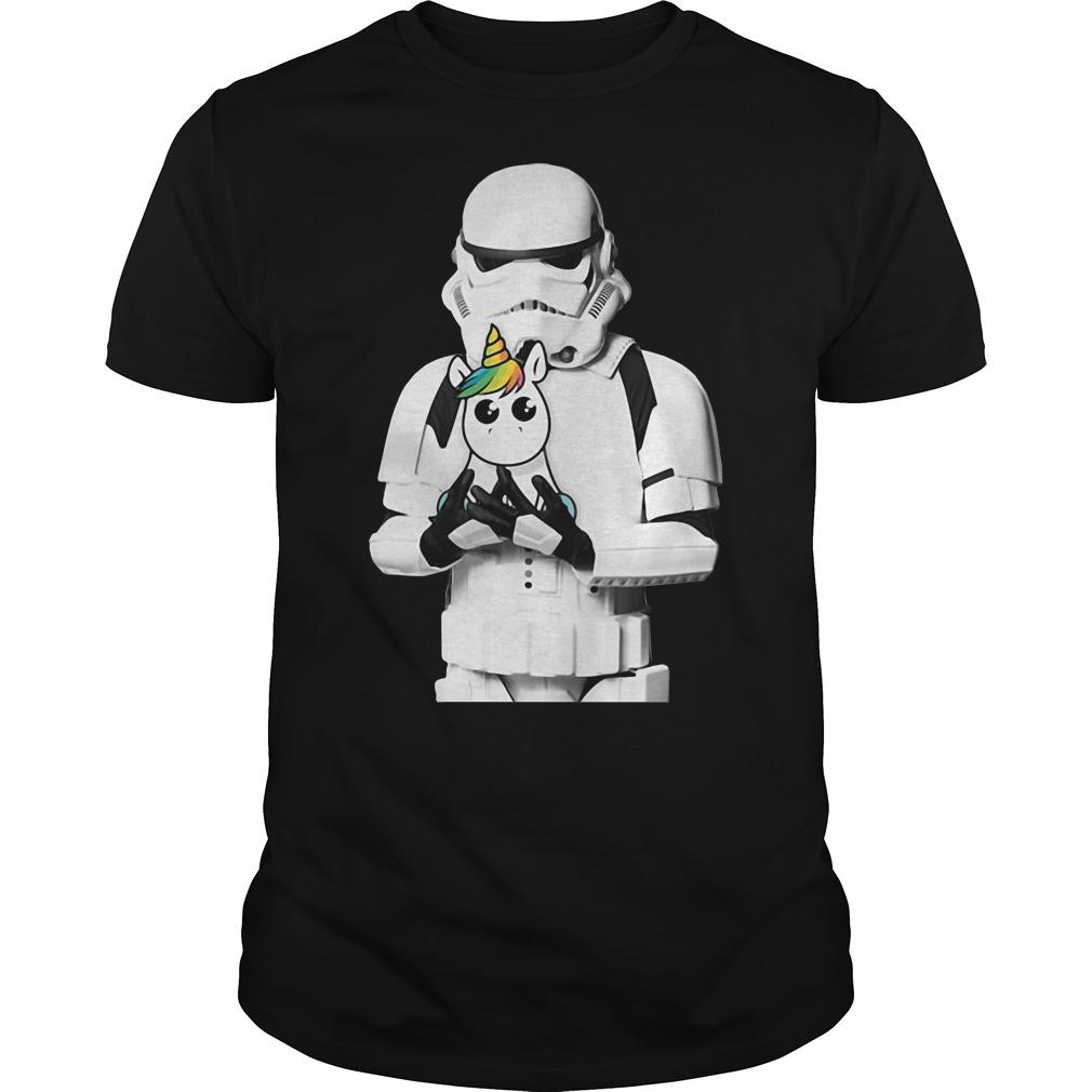 Stormtrooper hug Unicorn shirt