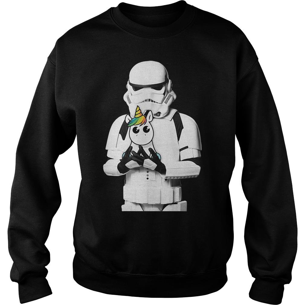 Stormtrooper hug Unicorn Sweater