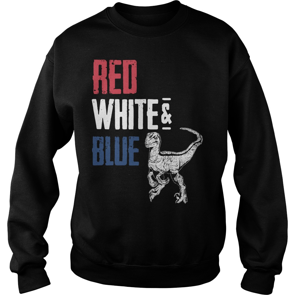 T-Rex Red White and Blue Sweater