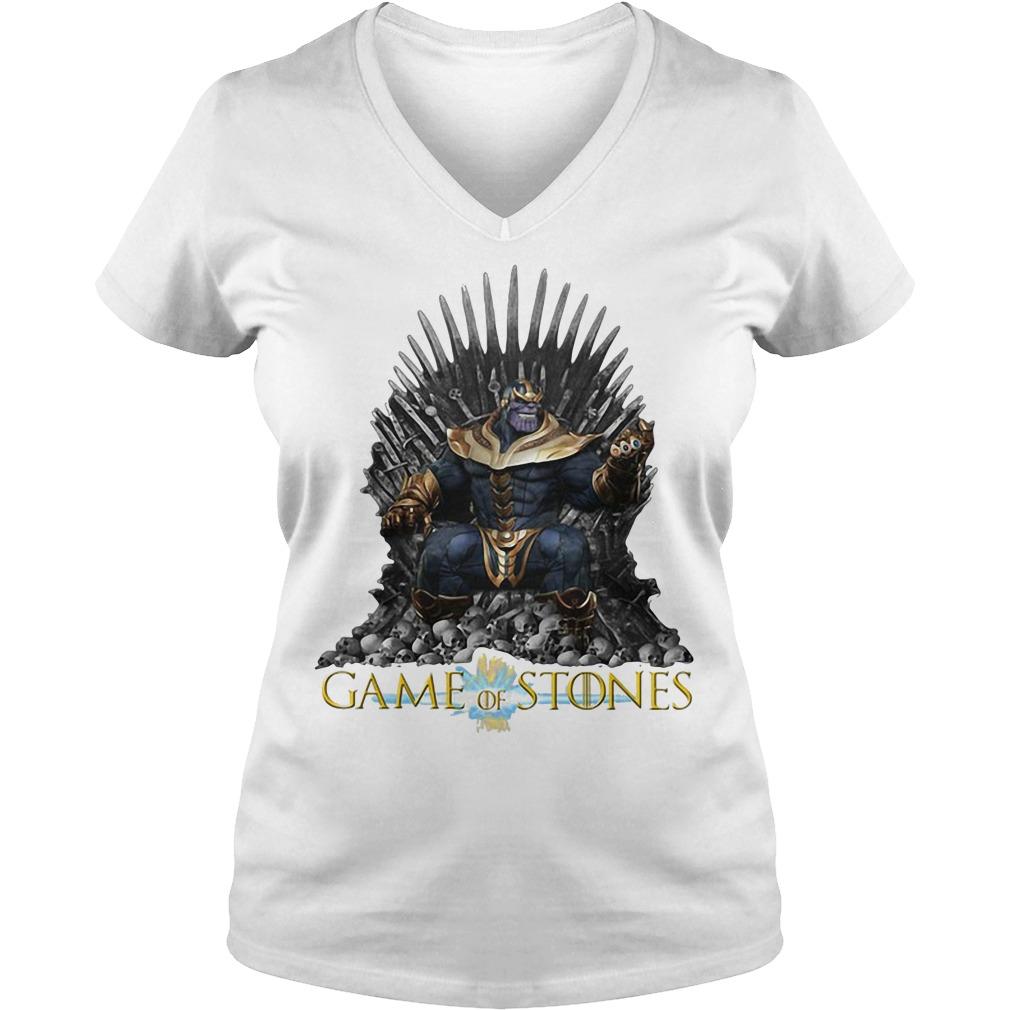 Thanos Game of Stones V-neck t-shirt