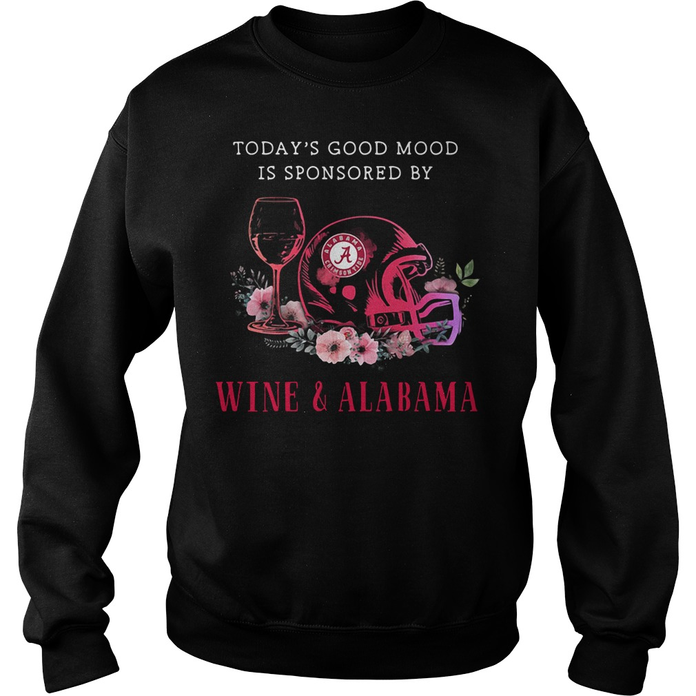 Today's good mood is sponsored by Wine and Alabama Crimson Tide Sweater