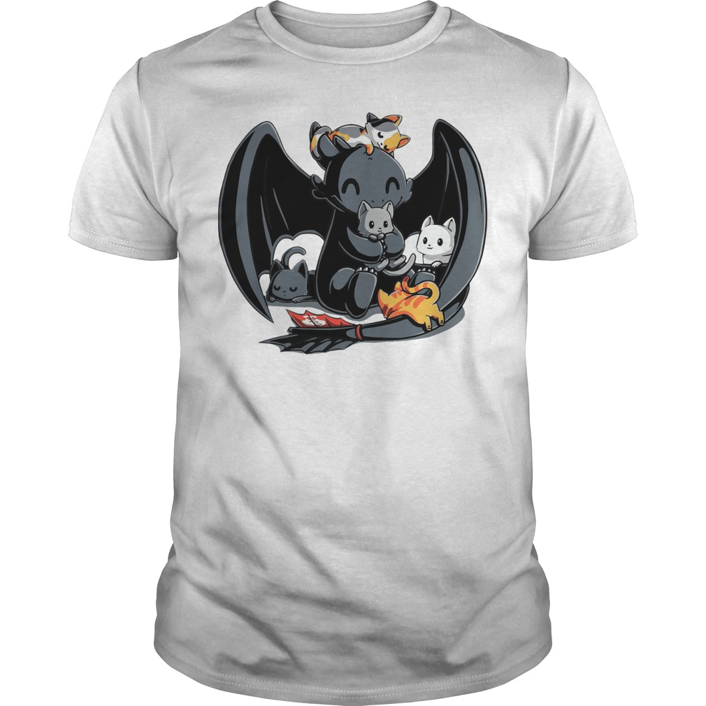 Toothless Night Fury and Cat how to train your Dragon shirt
