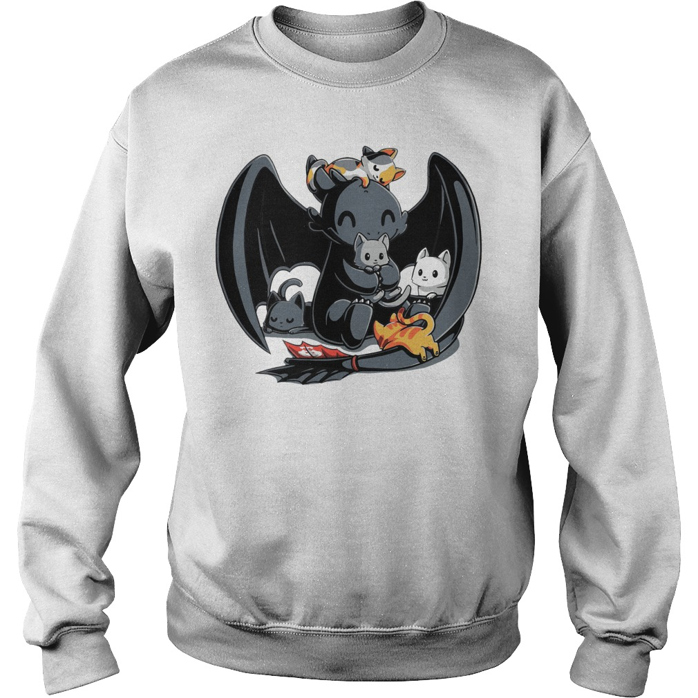 Toothless Night Fury and Cat how to train your Dragon Sweater